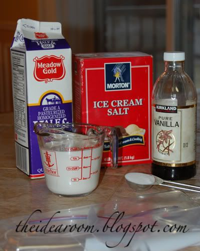 Make your own ice cream in a bag via Amy Huntley (The Idea Room)