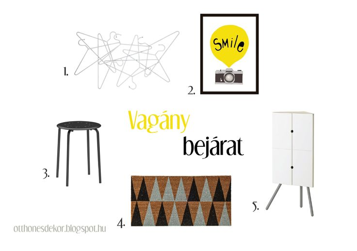 fehér, fekete, sárga előszoba, white, black, yellow, hall, hallway, ikea, bloomingville, normann copengahen, hang on