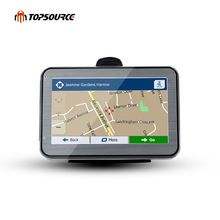 "US $33.04 TOPSOURCE 4.3"" 5"" 7"" hd car gps navigation truck gps navigation preload gps map windows ce6.0 800mhz 4gb MSB 2531 ARM Cortex A7. Aliexpress product"