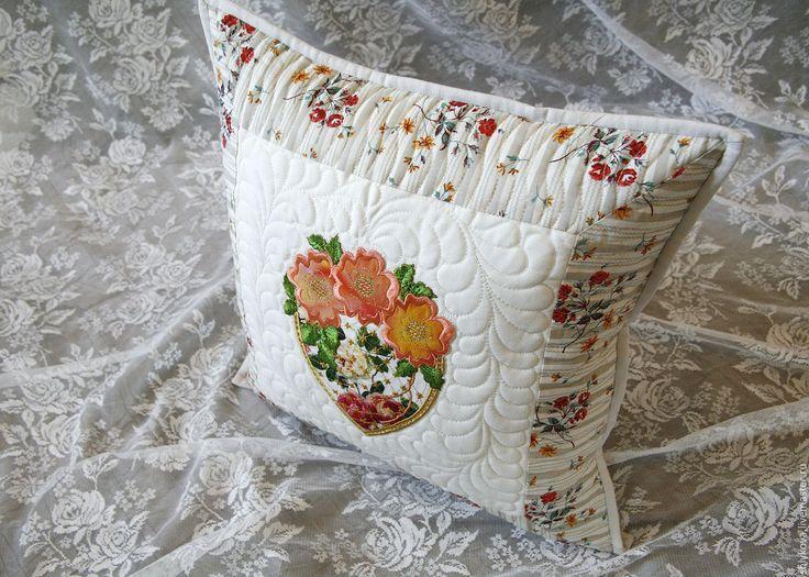 Купить Подушка. - комбинированный, подушка, подушечка, думочка, лоскутная подушка, стеганая подушка, декоративная подушка