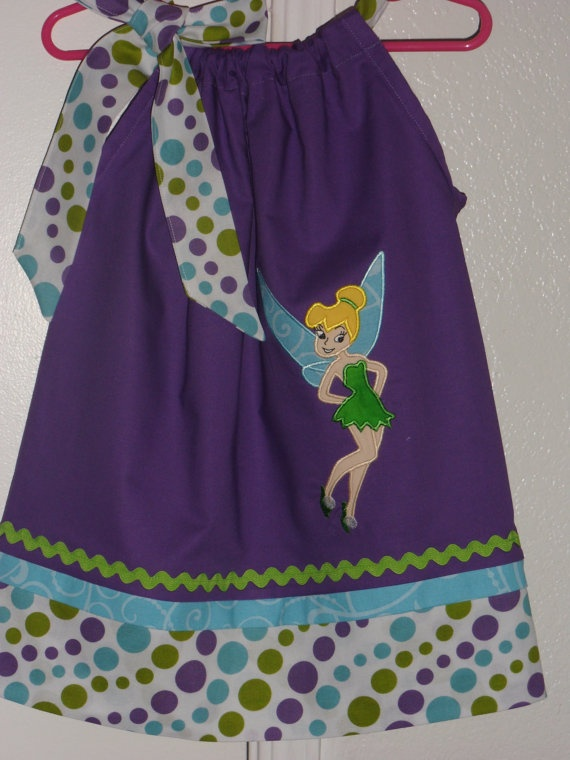 Super Cute Tinkerbell Pillowcase Dress by Just4Princess on Etsy $28.00 & 36 best Alexa\u0027s 3rd Tinkerbell Birthday theme images on Pinterest ... pillowsntoast.com