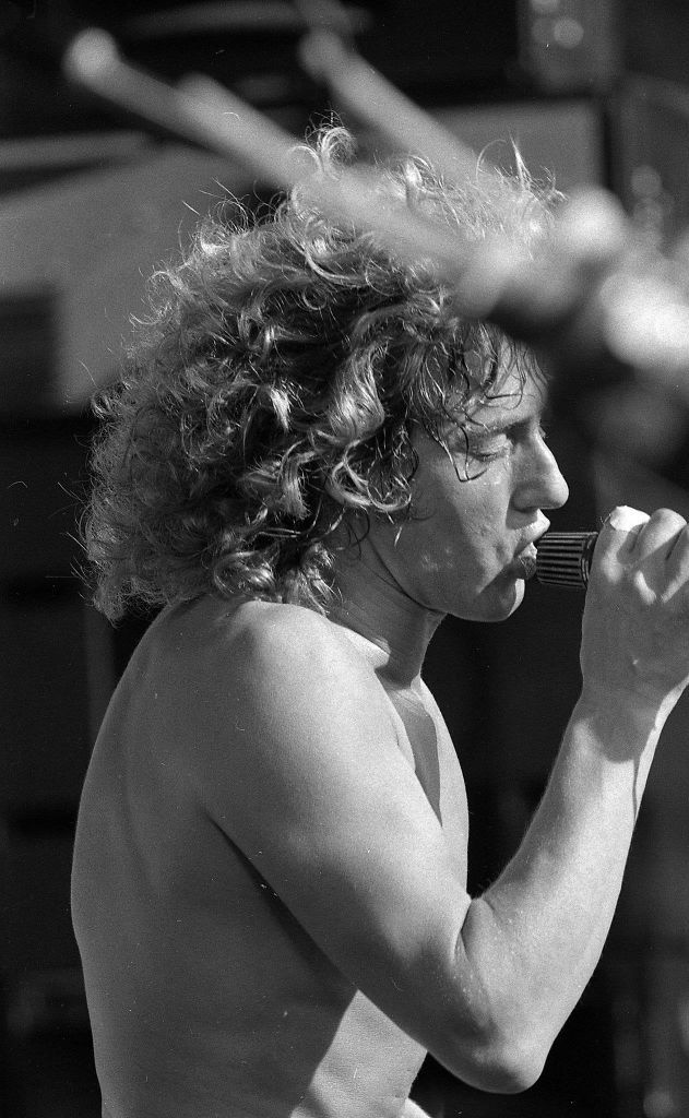 Roger Daltrey of the Who at the October 1976 Day on the Green at the Oakland Coliseum.