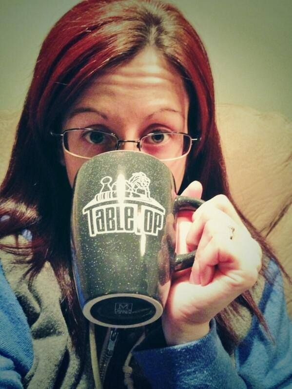 @Gina Gab Solórzano Marcozzi wakes up with her sweet-lookin' TableTop mug!  Grab yours for $14.99