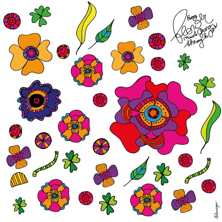 Flower quote. Flower pattern by Petruccya.