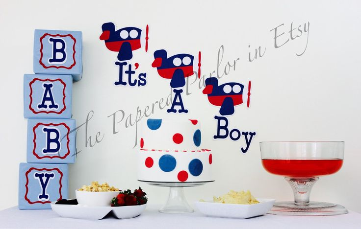 Airplane Baby Shower Decor/ Avaition Baby Shower Decor/Airplane baby Shower Decotations by ThePaperedParlor on Etsy https://www.etsy.com/listing/264681502/airplane-baby-shower-decor-avaition-baby