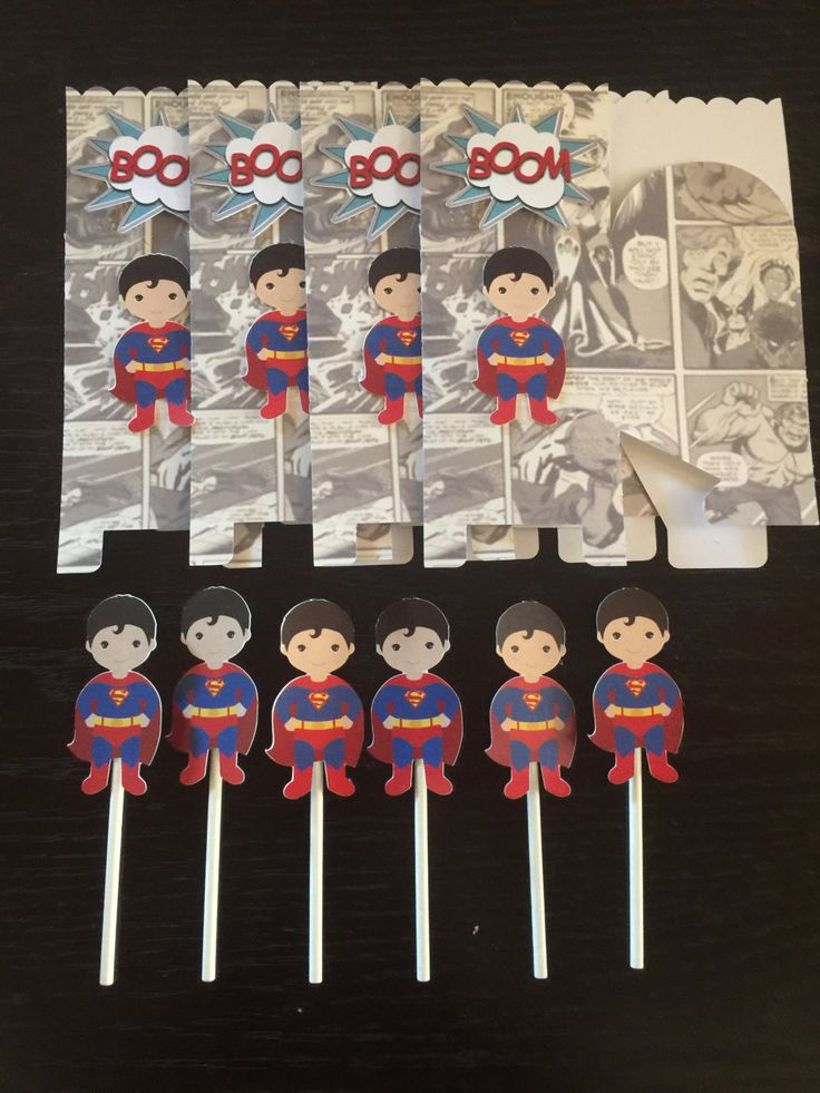 Superman Cupcake Toppers | ISuperman Favor Boxes | Superman  Party Supplies | Superman Birthday Party | Superman Party | Superman Baby by KidsPartyDreams on Etsy