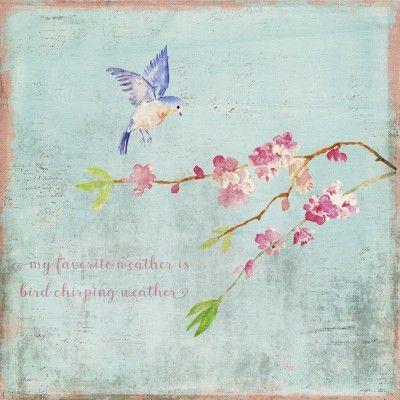 #UtArt: Mein liebstes Wetter ist Vogelgezwitscherwetter - #Bild auf #Alu-Verbundplatte