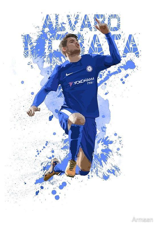 9c6c545ee0 Alvaro Morata Art - Chelsea FC  Canvas Print by Armaan