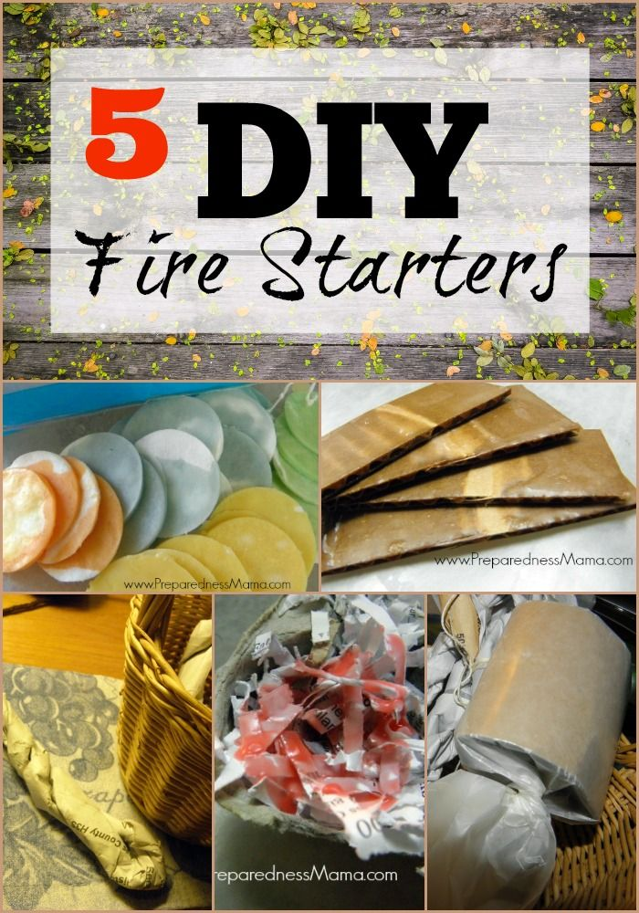 5 frugal ways to make DIY fire starters | PreparednessMama