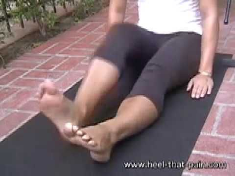 If you have plantar fasciitis like I do, then here is a good stretch for you! =)