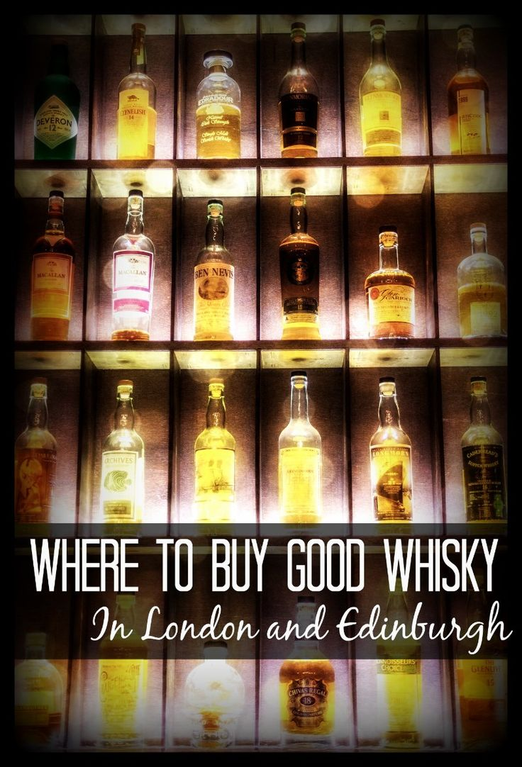 """Our favorite suggestions for where to buy good whisky in Edinburgh and London.  Whisky (Scottish whisky is spelled without the """"e"""") is the national drink of Scotland, and there is something about drinking it in its homeland that helps me to connect with the spirit of the country.  These are great suggestions for whisky beginners, as these shops will take the time to help you to have a great first expeience!"""
