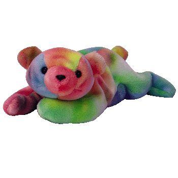 Ty Beanie Babies Sammy Rainbow Colors Bear Retired  1d3b3668922f