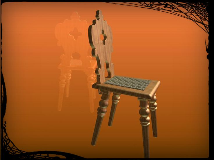 Rustikální Dřevěné židle - C - STEP / IGES, Autodesk Inventor, Autodesk Inventor - 3D CAD model - GrabCAD