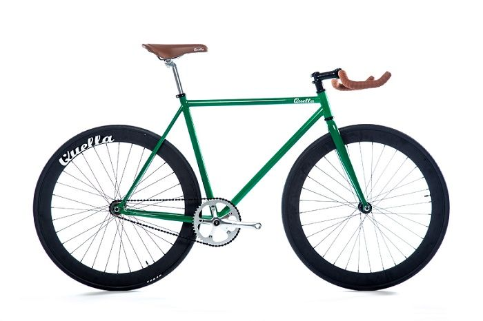 vélo urbain fixie bikes single speed quella signature one british racing green pas cher et chic sur fixiedesign.com