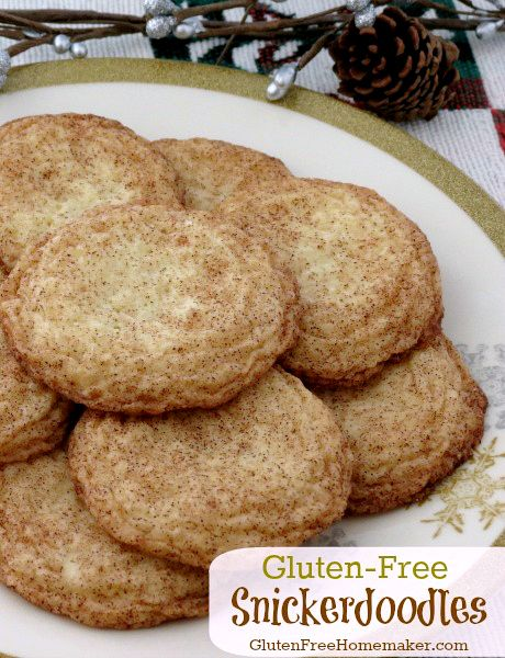 Cookies like these gluten-free snickerdoodles are just as good as any wheat based version and will be enjoyed by all. Gluten-Free Homemaker