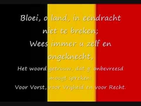 Belgisch volkslied - De Brabançonne lyrics voor hen die nog willen oefenen tegen zondag...