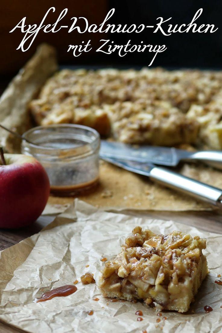 Experimente aus meiner Küche: Apfel-Walnuss-Kuchen mit Zimtsirup