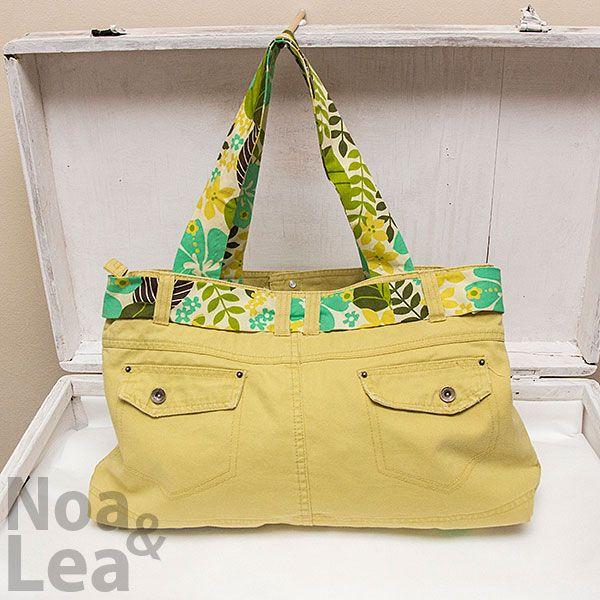 Upcycled trousers handbag by Noa & Lea Torba Upcykling, Torba ze spodni, Torba z jeansów  http://noa-lea.pl/index.php/pl/sklep/sklep-torby/32-torba-upcykling-oliwkowa-bawelniania-ze-spodni-2