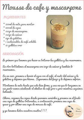 Mousse de café y mascarpone                                                                                                                                                     Más
