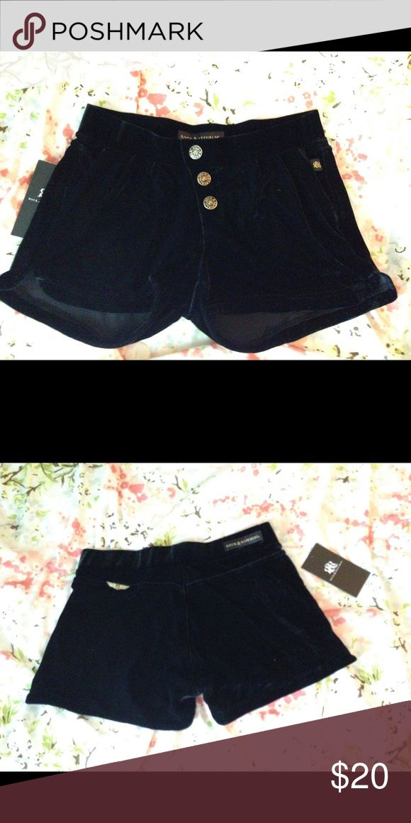 Rock and republic velour shorts Can be dressed up or down. Velour shorts with faux buttons in front. Rock & Republic Shorts