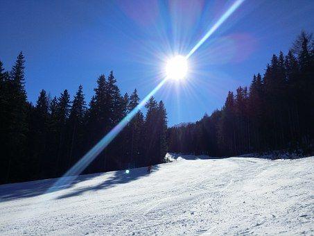 Hory, Vysokohorský, Tyrolsko, Sníh