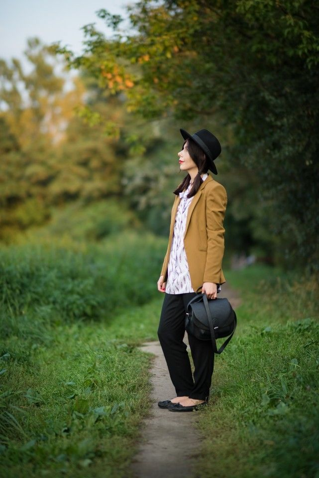 Elegant look in boho style  #fall #boho #hat #womansfashion