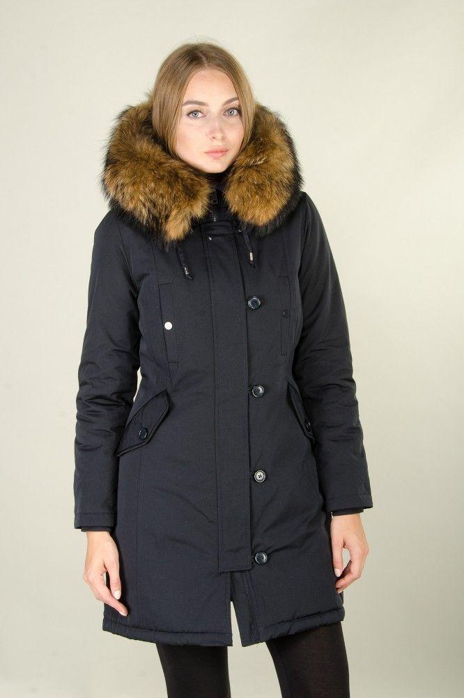 Damen Anthrazit lange Echtfell Winterjacke Winter Parka Jacke mit abnehmbarem Fell Daunenjacke Mantel Stepp Pelz Echtpelz