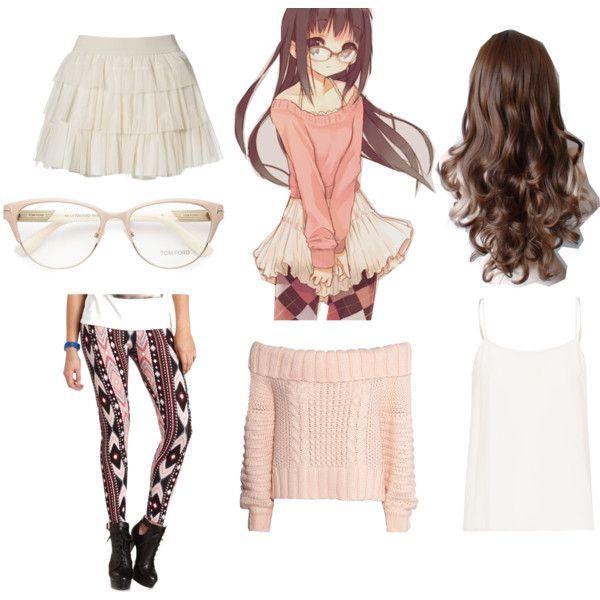 Anime Girl Lisa by bubbythenarwhal on Polyvore featuring moda, H&M, Equipment, Charlotte Russe and Tom Ford