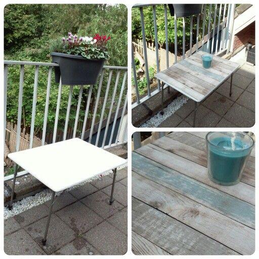 Oppimpen balkontafel steigerhout plakfolie plakfolie for Plakfolie decoratie