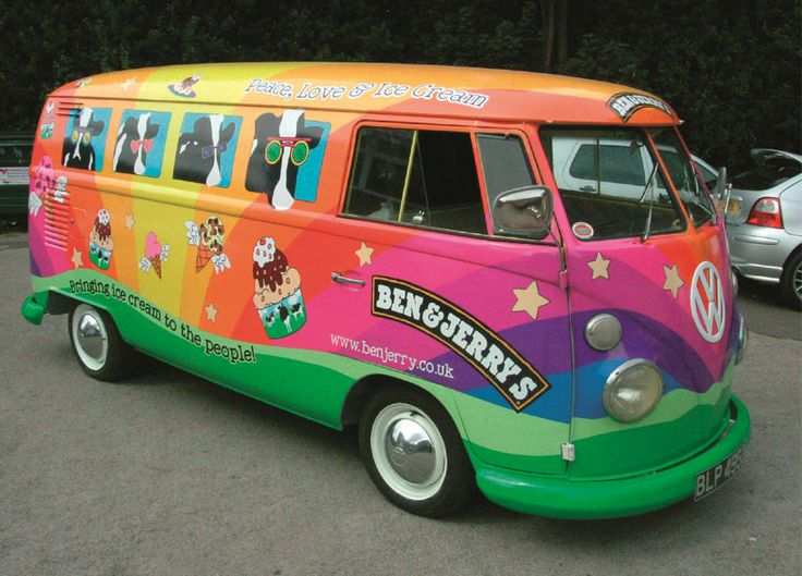 Vehicle wrap for Ben & Jerry's by Andesign. Wish this would come to our office...
