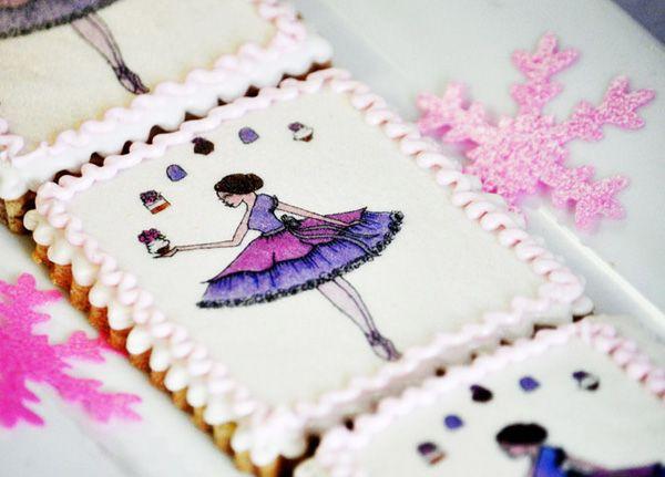Nutcracker Dessert Table: Beautiful sugar cookies made with edible imagesCake, Beautiful Sugar, Fairies, Nutcrackers Desserts, Sugar Plum Fairy, Ballerinas Teas, Christmas, Teas Parties, Desserts Tables