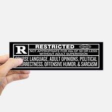 Rated R Bumper Bumper Sticker for