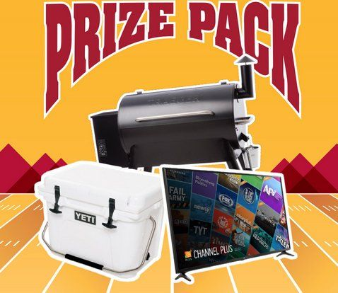 """One winner will receive one LG UJ6300 Series 65"""" 4K UHD HDR Smart TV, one Yeti Roadie 20, and one Traeger Pro Series 34 Grill-Blue.    Daily entries are available."""