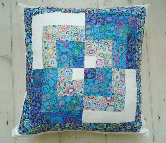 blue quarters patchwork cushion & Best 25+ Patchwork cushion ideas on Pinterest   Quilt pillow ... pillowsntoast.com