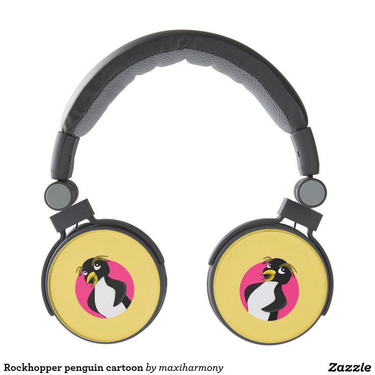 Rockhopper penguin cartoon headphones