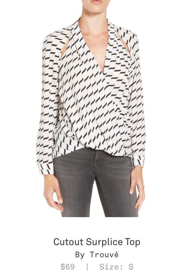 Trunk Club Women's Review - Cutout Surplice Top by Trouvé. Check it out with https://www.trunkclub.com/my/invite/PVAPLL