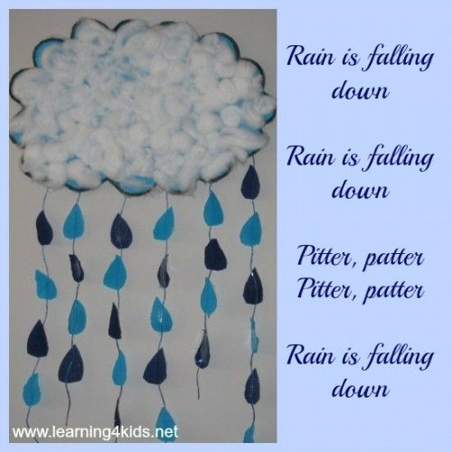 Rain craft with step by step directions and a rhyme to go with it!