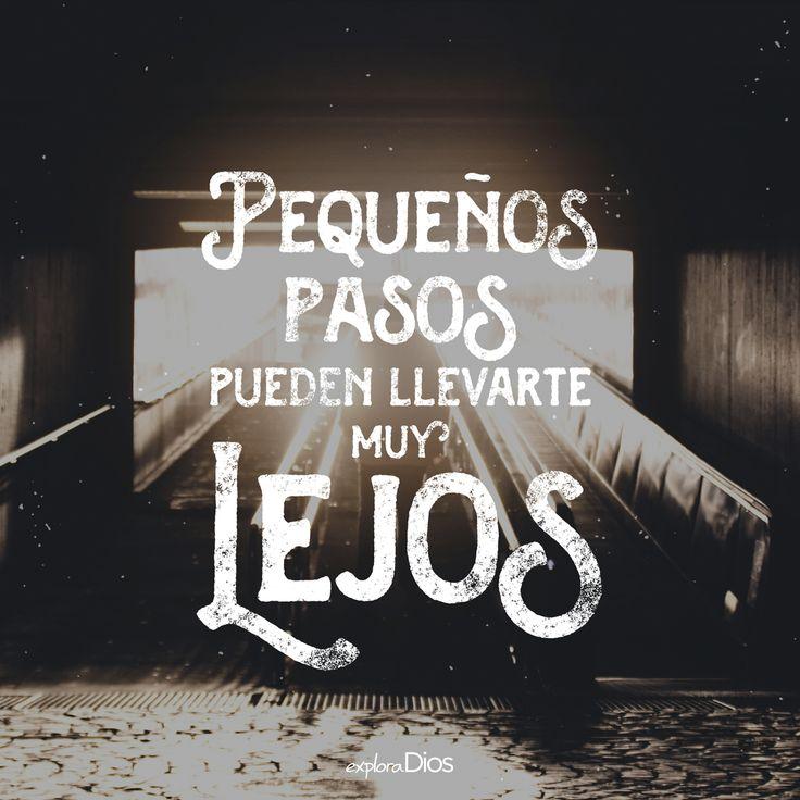 Pequeños pasos pueden llevarte muy lejos. #Frases #Amor #Dios #Pensamientos #Reflexionar #Imagenes #Vida #PicsArt #Imagen #Pensamiento #Feliz #FelizDía #Felicidad #Amar #Jesús #ExploraDios