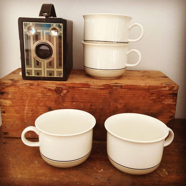 4 Arabia/coffee cups/Arctica/Seita/Design: Raija Uosikkinen/1975-81. by WifinpoofVintage on Etsy