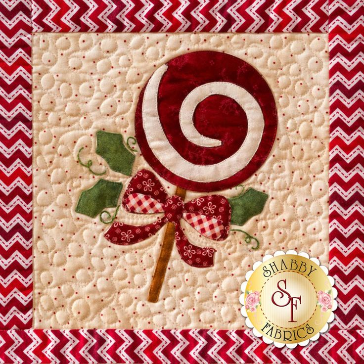 Sweet little Christmas designs fill Shabby Fabrics' latest Block of the Month quilt: Christmas Keepsakes! See the whole wall hanging here: https://www.shabbyfabrics.com/-Christmas-Keepsakes-BOM-Pre-fusedLaser-P30953.aspx