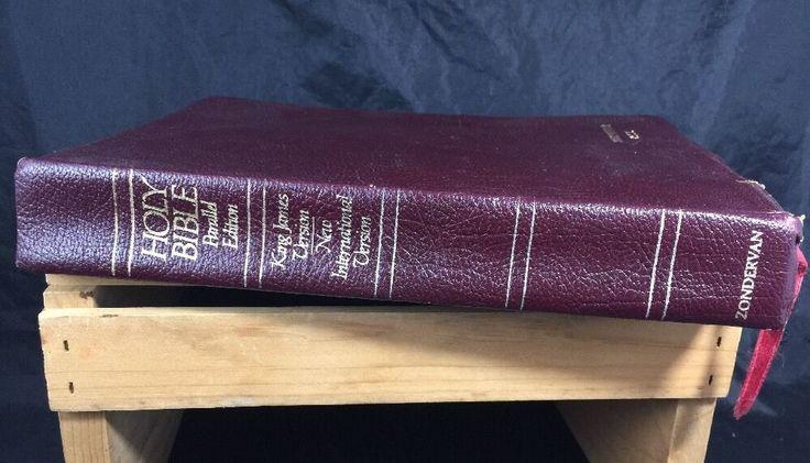 The NIV/KJV Parallel Bible King James Version The Old Testament 1986  | eBay