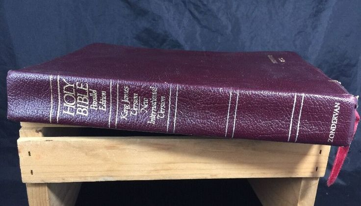 The NIV/KJV Parallel Bible King James Version The Old Testament 1986  | eBay
