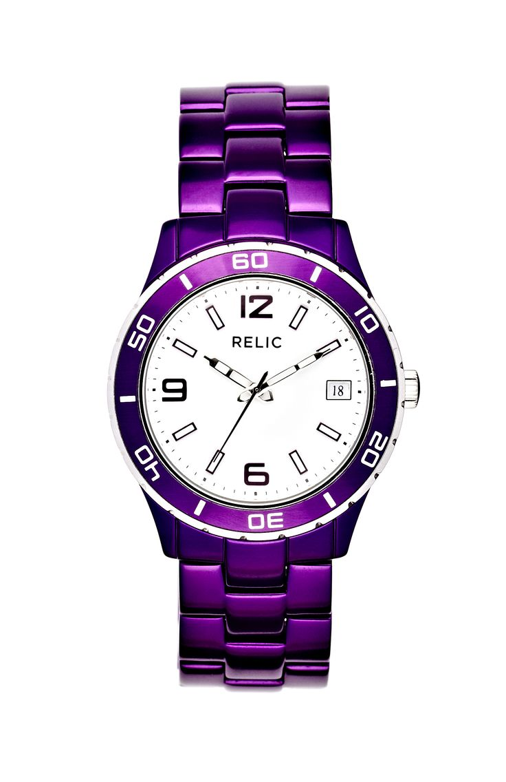 Nothing says passion like this purple relic watch! #accessories #color