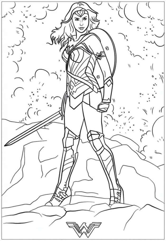 Hard Coloring Pages Wonder Woman Superhero Coloring Pages Avengers Coloring Pages Superhero Coloring