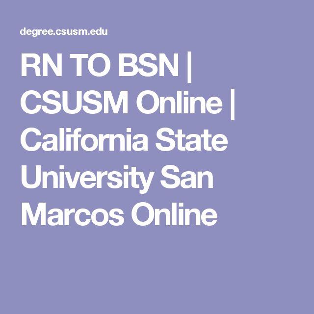 RN TO BSN | CSUSM Online | California State University San Marcos Online