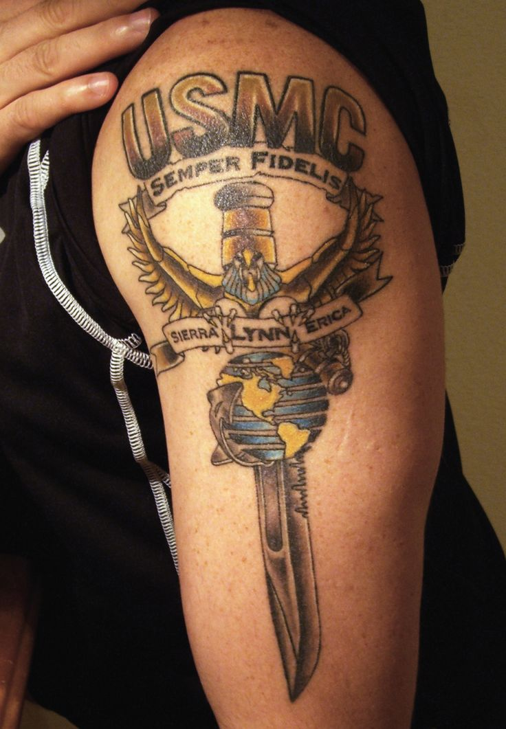 Usmc Wife Tattoos Best 25+ Usmc t...