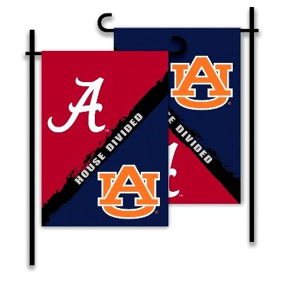 House Divided Flags | Alabama & Auburn House Divided Garden Flag