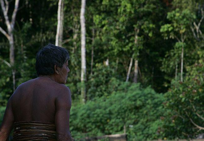 O guerreiro Aruká. o último homem da etnia  Juma (Foto: Odair Leal/AR)
