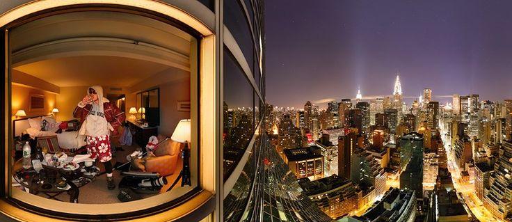 Plaza Hotel in New York City, Manhattan, Night View. AirPano.com • 360° Aerial Panorama • 3D Virtual Tours Around the World