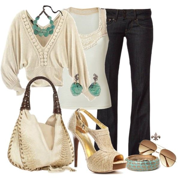Creamy Delight: Shoes, Color, Outfit, Fashion Idea, Jeans, Closet, Creamy Delight, Rocks, Casual Summer Fashion